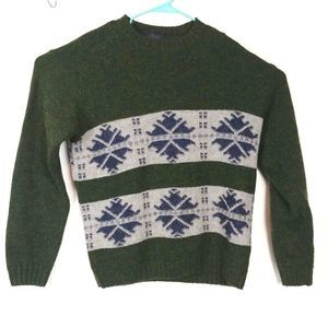 Valentino Jeans Italy wool blend sweater green M*